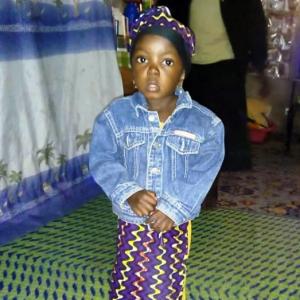 Liliane, aged 5